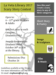 start writing your scary stories la veta public library start writing your scary stories