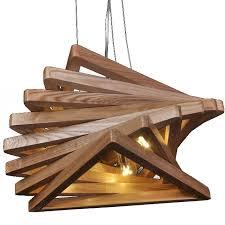 modern original wood triangles pendant lighting 10778