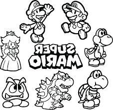 Coloring Pages Mario Brothers Printable Coloring Pages Special Offer Games Super