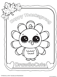 Small Picture thanksgiving turkey draw so cute Coloring pages Printable