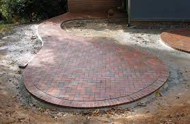 circular brick patio