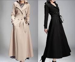 2018 elegant women s lady full length maxi trench coat double ted belt coat long new fashion y black slim fit windbreaker yyk7790 from