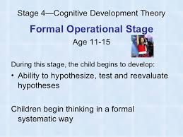 piaget s cognitive development theory  12 stage 4 cognitive development