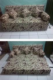 sofa lipat. sofabed lipat motif batik kruis sofa