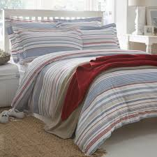 hudson stripe organic cotton duvet cover double