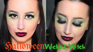 easy wicked witch makeup tutorial green eyes ombre bitten lips