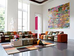 image of diy living room wall decorating ideas colorful