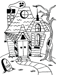 Haunted Houses Coloring Pages Kid Coloring Pages Unicorn Haunted