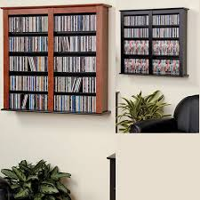 cherry black double wall mounted storage