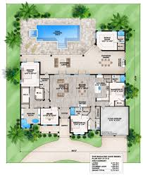 contemporary house plans. Exellent Plans This 4 Bedroom Coastal Contemporary House Plan Features A Great Room  Dining Room With Wet Bar Private Master Suite And Outdoor Kitchen Inside House Plans