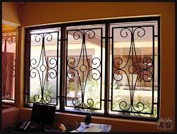 Burglar Bar Door Designs Five Facts About Wrought Iron Security Bars Window Bars