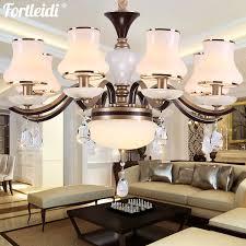 tleidi european crystal chandelier living room light luxury atmosphere jade glass cover bedroom light warm wedding room modern simple