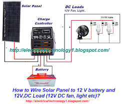 how to wire solar panel to 12v battery and 12v dc load how to wire solar panel to 12v battery