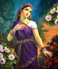 indian painting woman 1