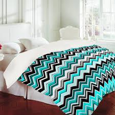 White And Turquoise Bedroom Madart Inc Turquoise Black White Chevron Duvet Cover Duvet