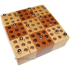 Wooden Peg Board Game Elbert Mini Wooden Travel Sudoku Board Game Set with Wood Peg 91