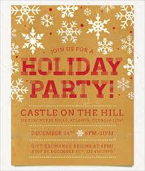 free christmas dinner invitations holiday party flyer template publisher invitation with blue green