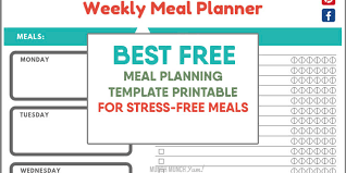 free menu planner super easy meal planning for beginners free menu planner template