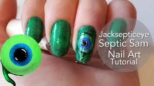 Septic Sam (Jacksepticeye) Nail Art Tutorial | Jacksepticeye ...