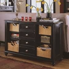 black console table with storage.  Table Black Sofa Table With Drawers Astonishing Design Stained Finish Large  Rectangle Solid Wood Console Storage Space Wickered Basket Feature Decoration Slim  For R