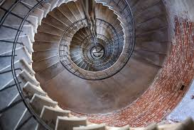 old-brick-stone-metal-spiral-staircase