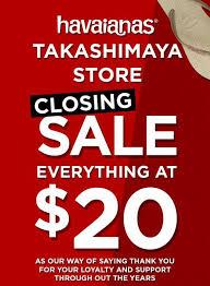 Closing Sale At Havaianas Gotomalls