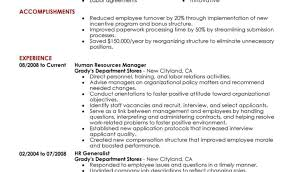 Recruitment Manager Resume Mining Underground Electrician Sample