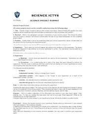 Perfect Scientific Report Format Template Science Title Page
