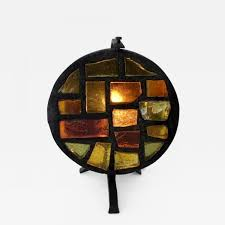 listings furniture lighting table lamps jacques avoinet french multi color mosaic glass