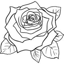 Small Picture simple rose outline drawing Google Search Tattoos Pinterest