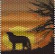 Картины кирпичным плетением