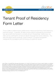 Proof Of Residency Letter From Landlord Free Download