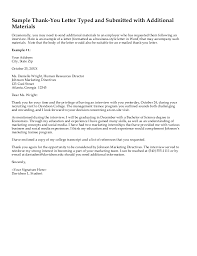Thank You Letter After Panel Interview Letter Of Recommendation