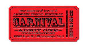 Carnival Themed Invitations Carnival Birthday Party Invitations
