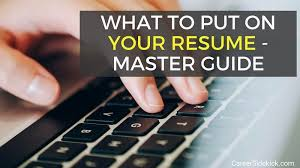 Things To Add To Your Resumes What To Put On A Resume Best Structure And Order Career