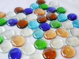 new large round multi coloured decorative glass vase pebbles stones dina 43699