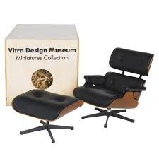 ray eames furniture. vitra miniature eames lounge chair ray furniture