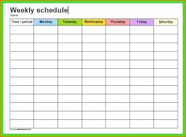 Free Printable Work Schedule Calendar 5 Template Employee Vacation