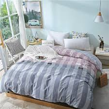 double stylish blue stripe pattern duvet covers with zipper 100 cotton soft comforter cover 1