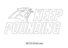 Super Bowl 50 Carolina Panthers Vs. Denver Broncos Coloring Page ...