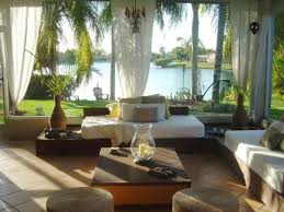 sun room furniture. lake outdoor view sunroom design with l shaped sofa arrangement and rhombus pattern stone floor also beautiful transparent white curtains for small interior sun room furniture e