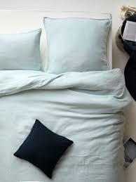 washed linen duvet co cover blue wamsuttar vintage king in winter white