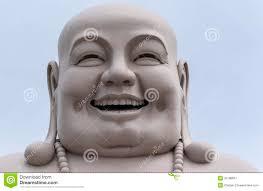 Buddha Head Decor Head Of Massive White Buddha Isolated From Decor Royalty Free