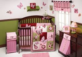 erfly baby girl crib bedding set hot pink orange pc nursery with