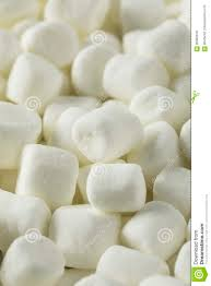 Mini Marshmallows Dulce Blanco Foto de archivo - Imagen de bocado ...