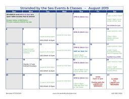 August Calandar Stranded Blog Calendar Of Events August 2019 Stranded