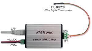 temperature lan ds18b20 high precision 1 wire digital temperature monitor