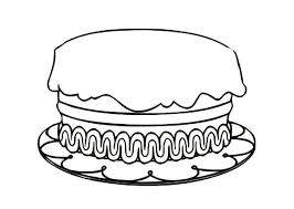 Small Picture Birthday Cake Coloring Pages With Candle and No Candle