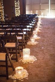 rustic wedding lighting ideas. romantic indoor barn wedding aisle decoration ideas with lights rustic lighting h