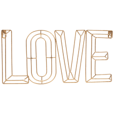 gold love wire metal wall decor hobby